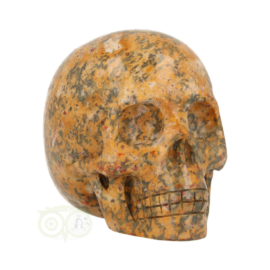 Jaspis Breccie kristallen schedel 260 gram-2