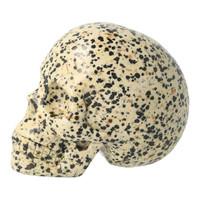 thumb-Dalmatiër Jaspis Schedel 323 gram-4