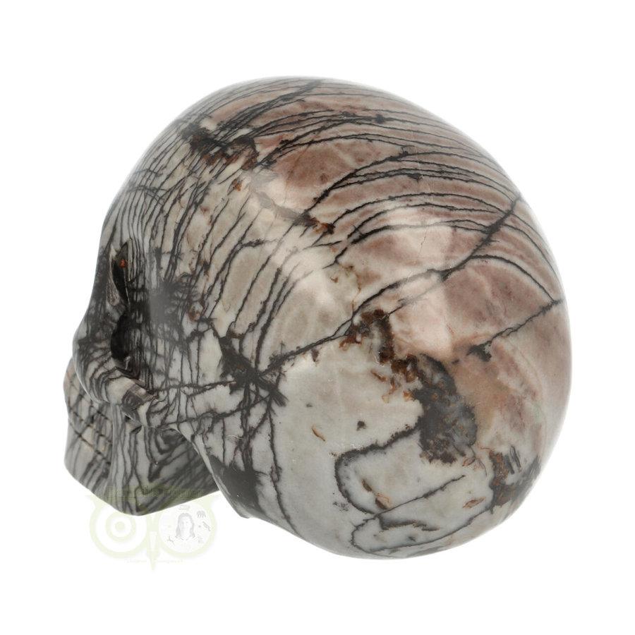 Spinnenweb Jaspis Schedel 285 gram-5