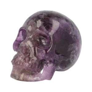 Fluoriet schedel | Paarse Fluoriet schedel | Kristallen schedel | Edelstenen Webwinkel - Webshop Danielle Forrer