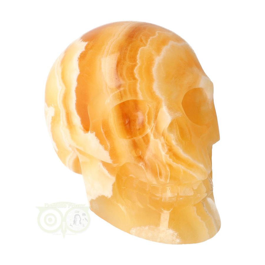 Oranje Calciet schedel 438 gram-2