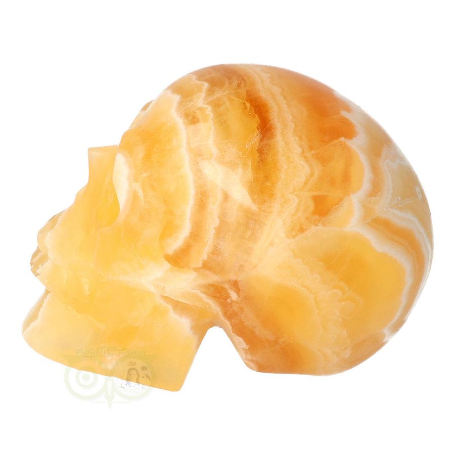 Oranje Calciet schedel 438 gram-5