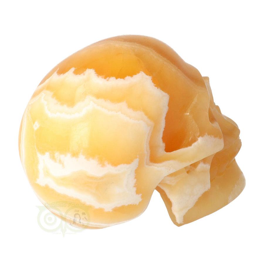 Oranje Calciet schedel 438 gram-8