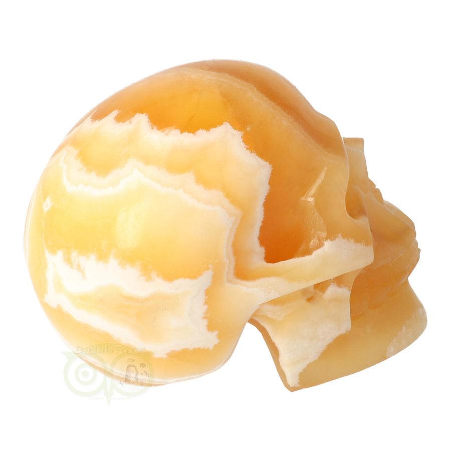 Oranje Calciet schedel 438 gram-9