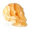 Oranje Calciet schedel 438 gram