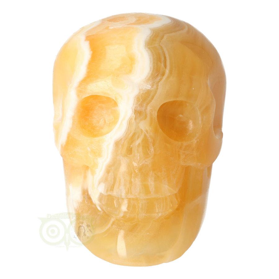 Oranje Calciet schedel 438 gram-3