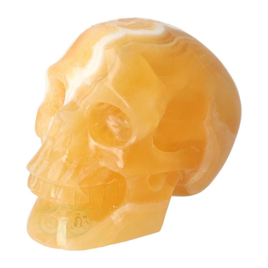 Oranje Calciet schedel 438 gram-4