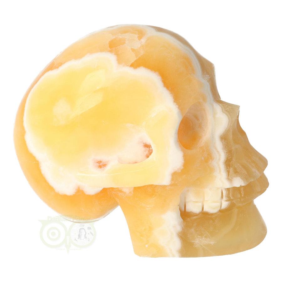 Oranje Calciet schedel 438 gram-10