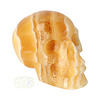 Oranje Calciet schedel 276 gram