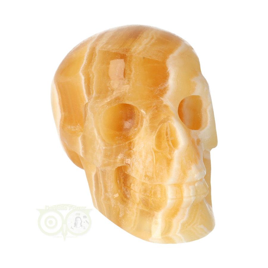 Oranje Calciet schedel 276 gram-2