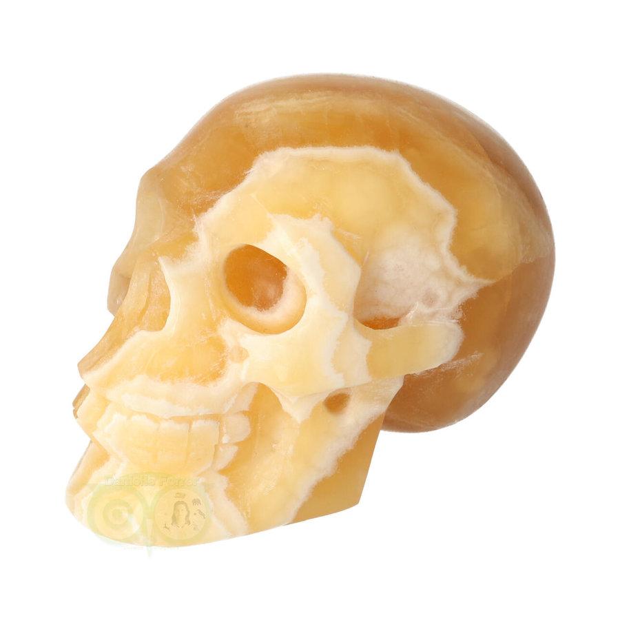 Oranje Calciet schedel 276 gram-4