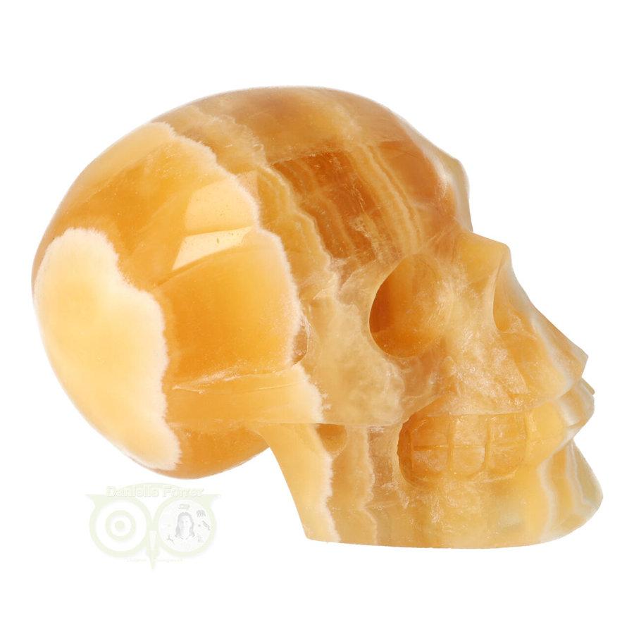 Oranje Calciet schedel 276 gram-10