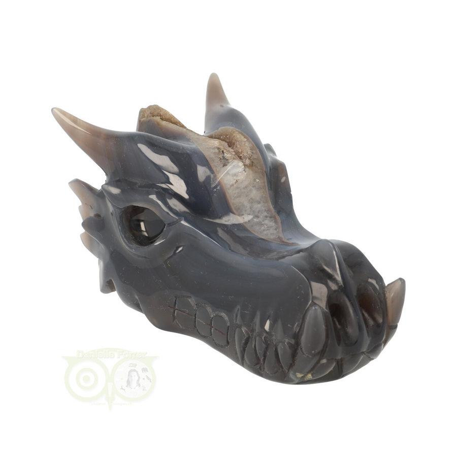 Agaat geode draken schedel 893 gram-2