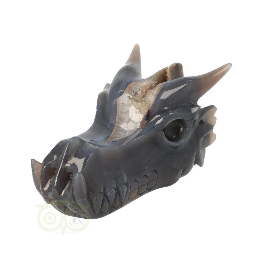 Agaat geode draken schedel 893 gram-4