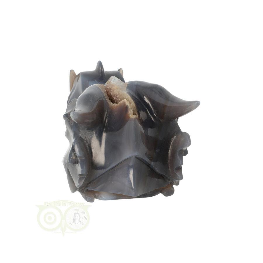Agaat geode draken schedel 893 gram-7