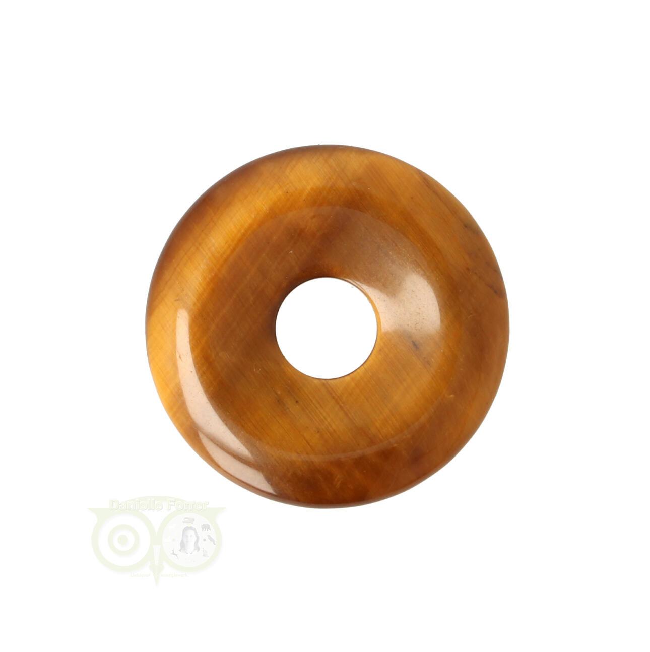 Tijgeroog Donut edelstenen hangers |Edelstenen Webwinkel - Webshop Danielle Forrer