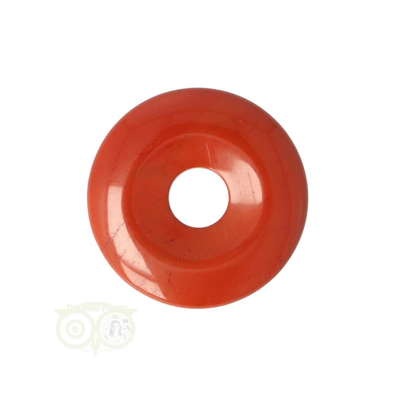 Rode Jaspis Edelstenen donut hangers | Edelstenen Webwinkel - Webshop Danielle Forrer