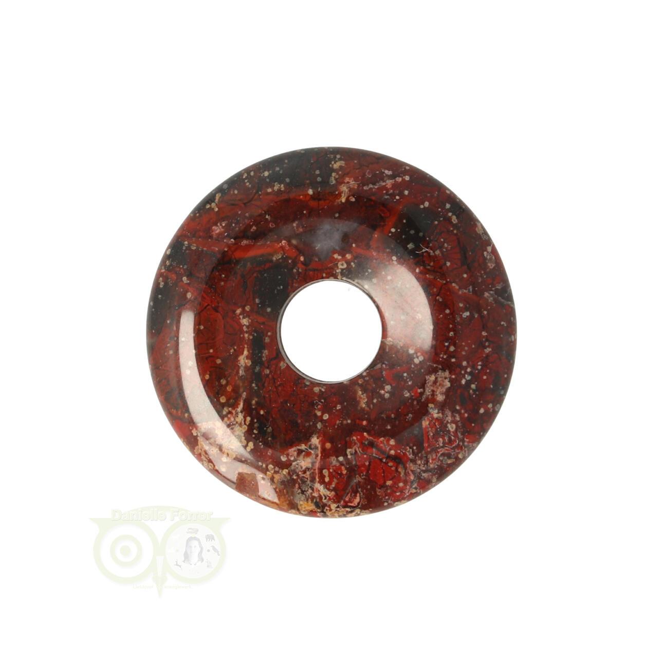 Jaspis Breccie Edelstenen donut hanger | Edelstenen Webwinkel - Webshop Danielle Forrer