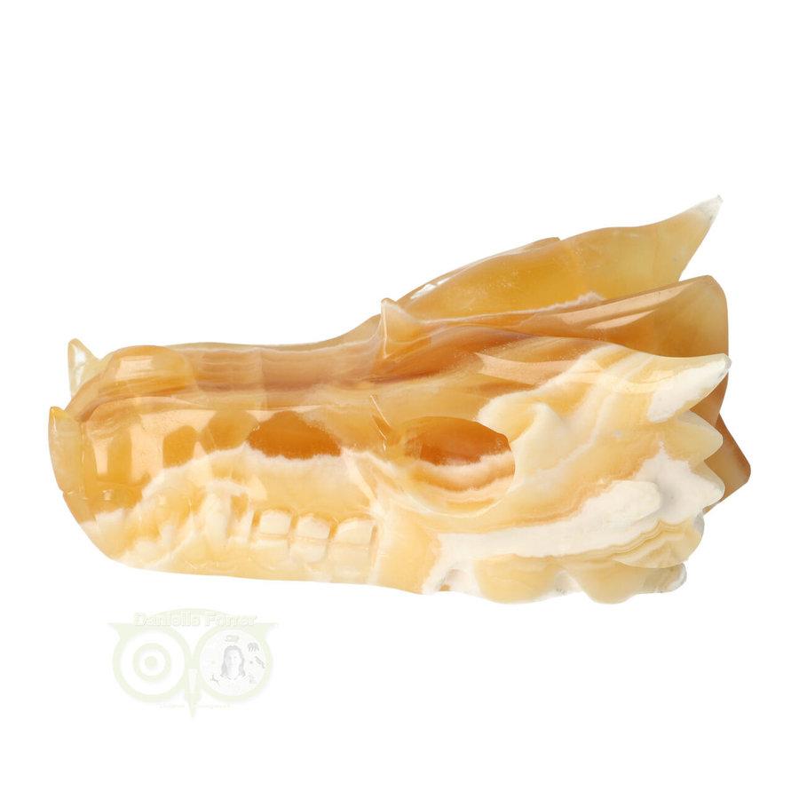 Calciet DRAAK draken schedel Nr 257- 382 gram-5
