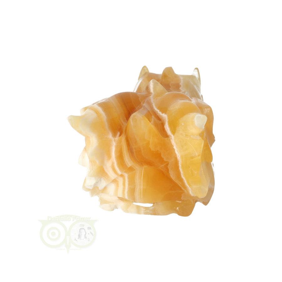 Calciet DRAAK draken schedel Nr 257- 382 gram-7