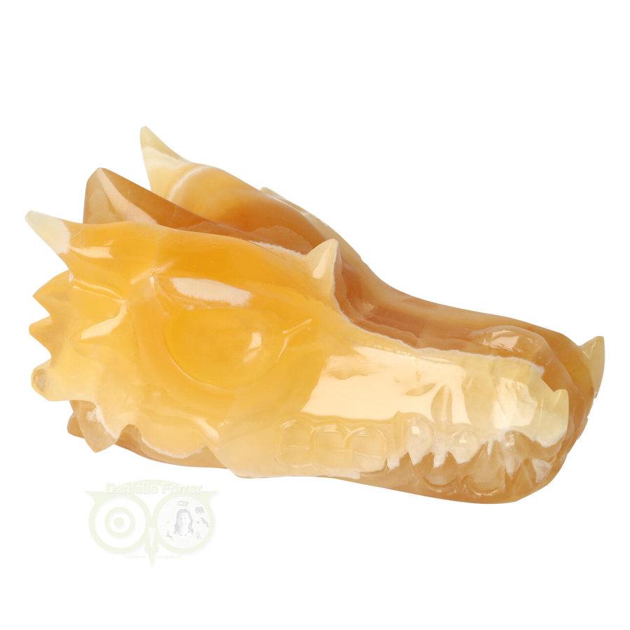 Calciet DRAAK draken schedel Nr 257- 382 gram-10