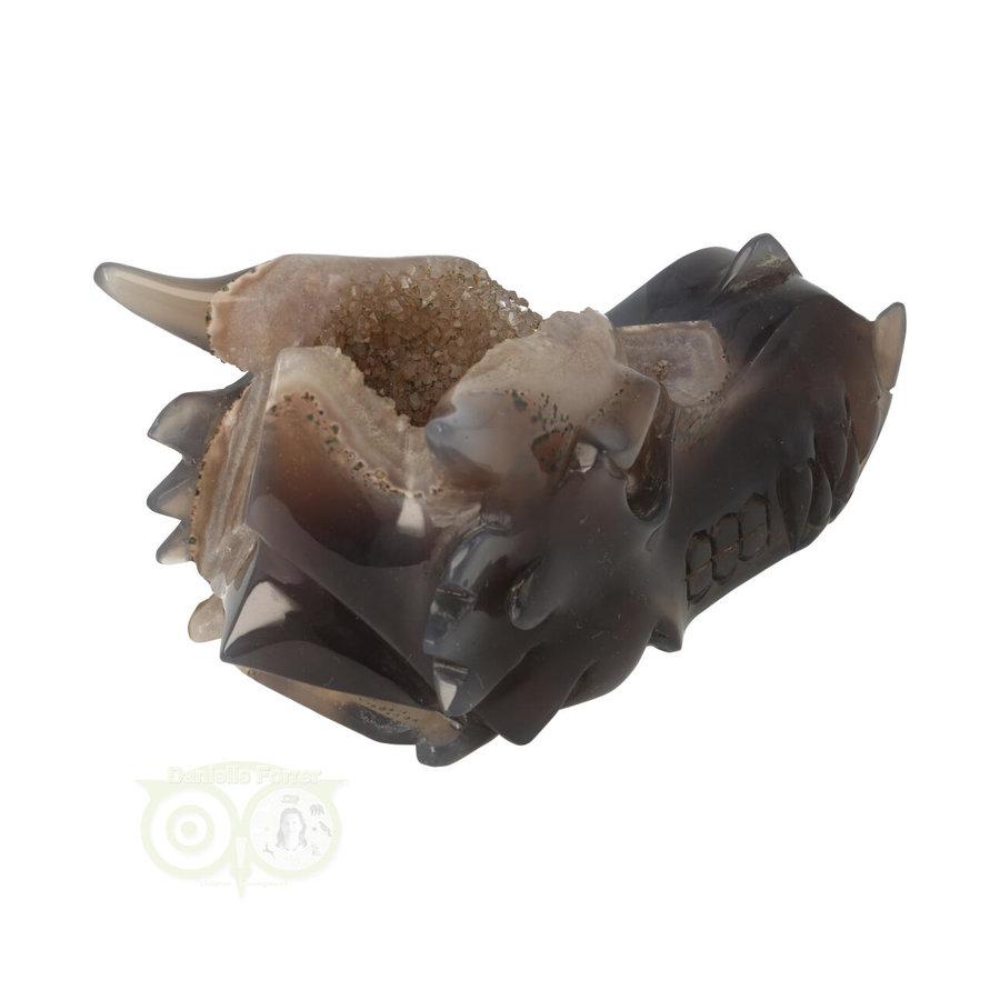 Agaat GEODE drakenschedel 456 gram-9