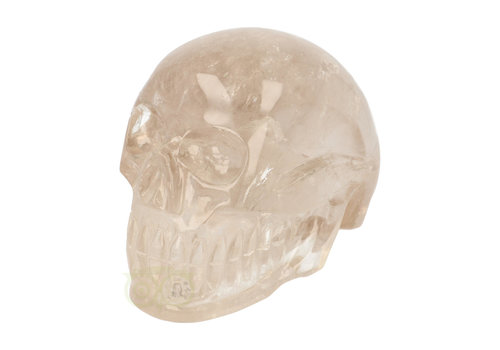 Bergkristal / Lichte rookkwarts schedel - Brazilië -  3.1 kilogram
