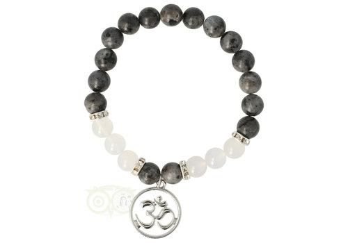 Armband Labradoriet / witte agaat - Ohm