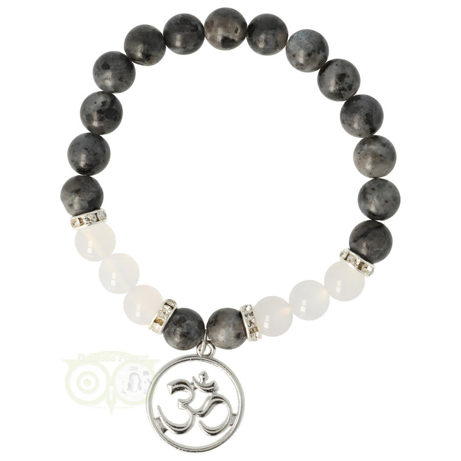 Armband Labradoriet / witte agaat - Ohm-1