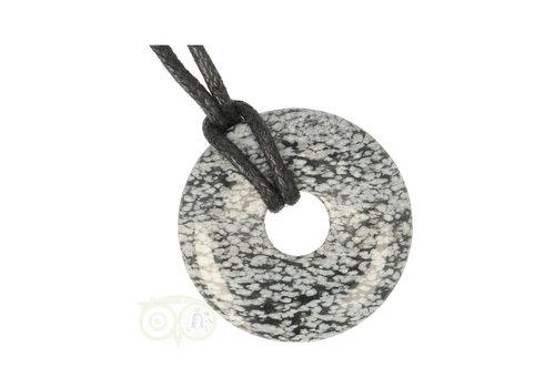 Sneeuwvlok Obsidiaan Donut hanger Nr 9