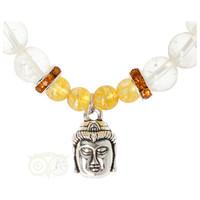thumb-Armband citrien / bergkristal met boeddha bedel-2