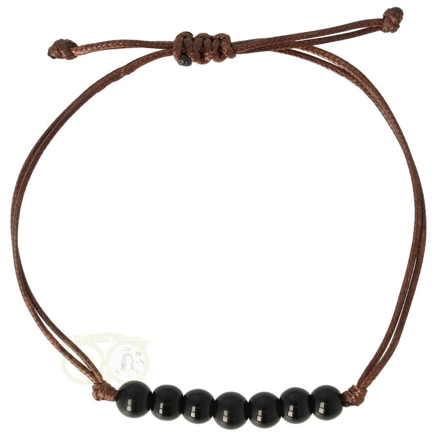 Armband Obsidiaan - verstelbaar-1