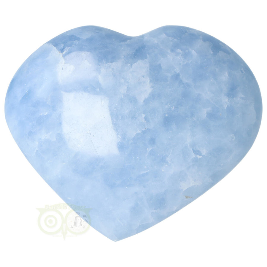 Blauwe Calciet hart Nr 31 -380 gram-3
