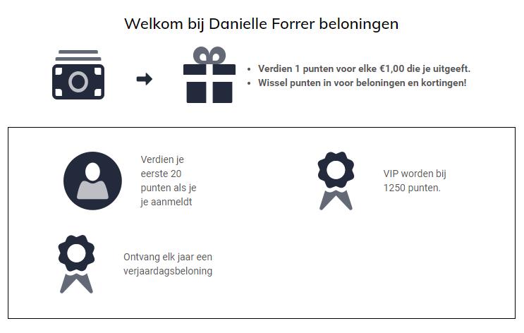 Inschrijven voor het Loyalty - Sparen voor korting | Edelstenen Webwinkel - Webshop Danielle Forrer