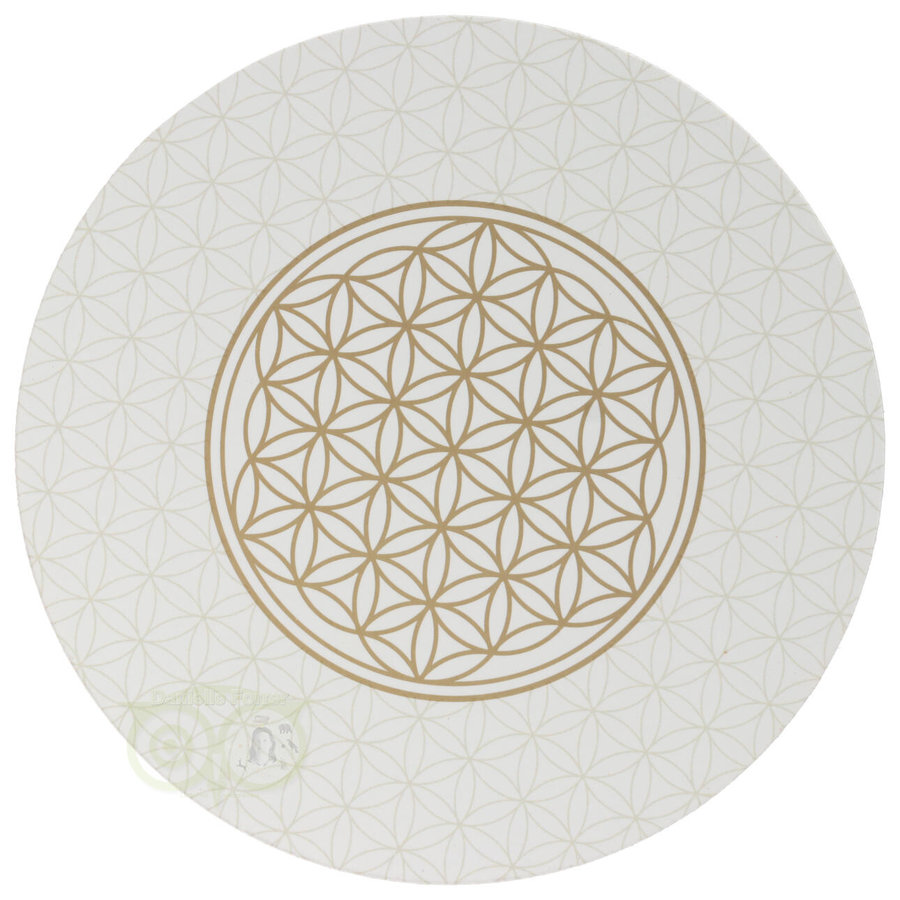 Bloem des levens / Flower of life onderzetters set van 6-3