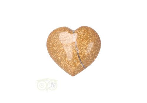 Oceaan Jaspis hart ± 3 cm Nr 13