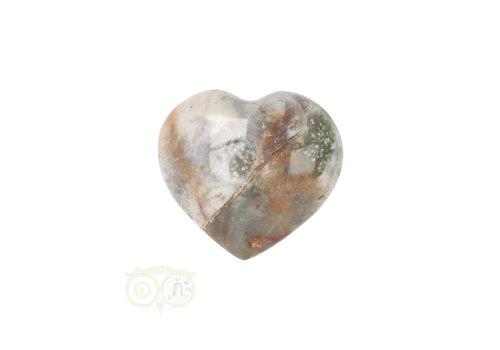 Oceaan Jaspis hart ± 3 cm Nr 14