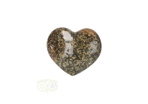 Oceaan Jaspis hart ± 3 cm Nr 15