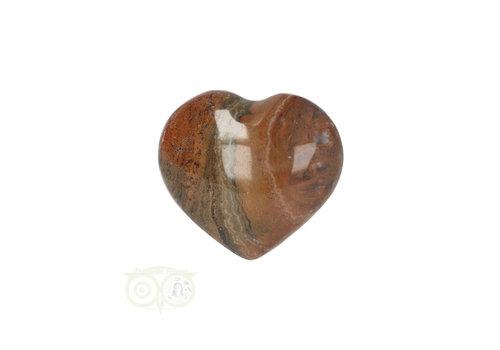 Oceaan Jaspis hart ± 3 cm Nr 17