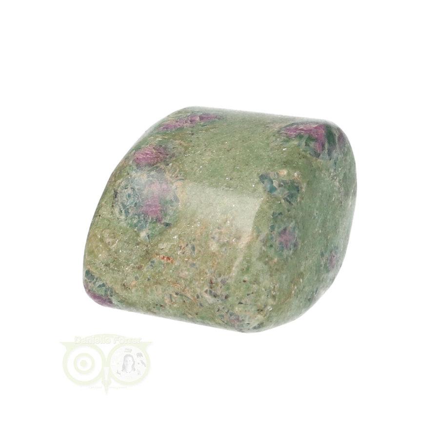 Robijn in Fuchsiet Knuffelsteen Nr 34  - 22 gram-1