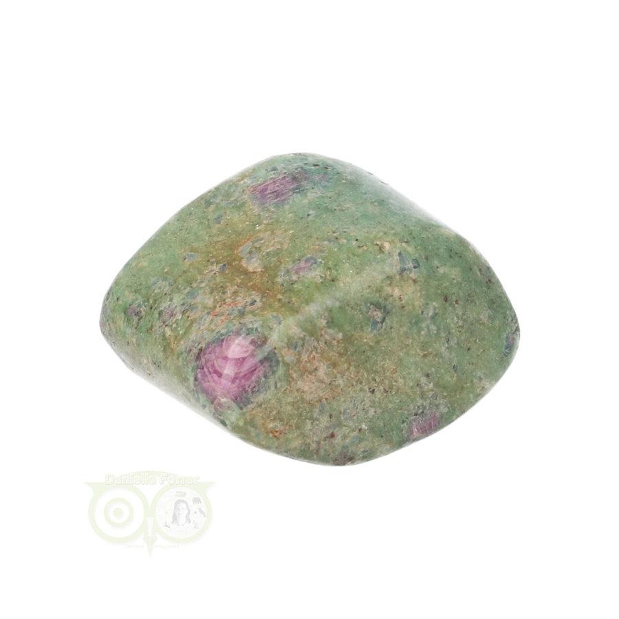 Robijn in Fuchsiet Knuffelsteen Nr 34  - 22 gram-3