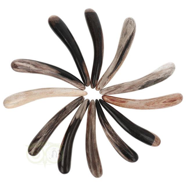 Versteend hout massagestaaf - Versteend hout healingstick - Versteend hout Griffel | Edelstenen Webwinkel - Webshop Danielle Forrer