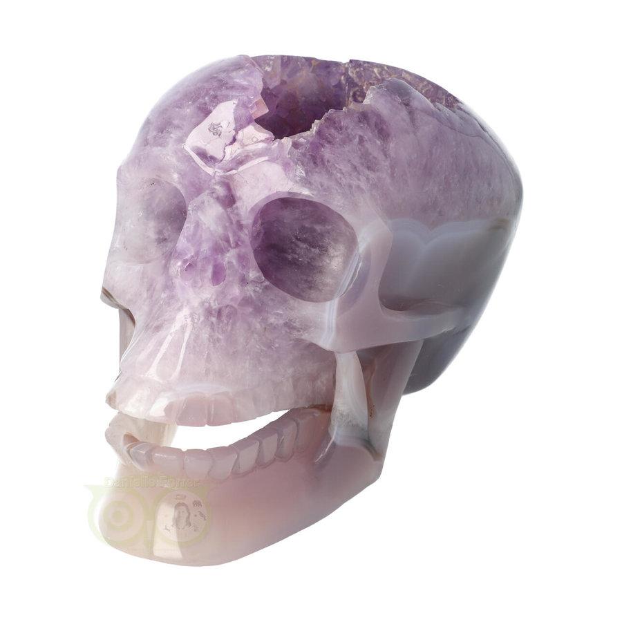 Amethist - Agaat Geode kristallen schedel 3.9 kg-1