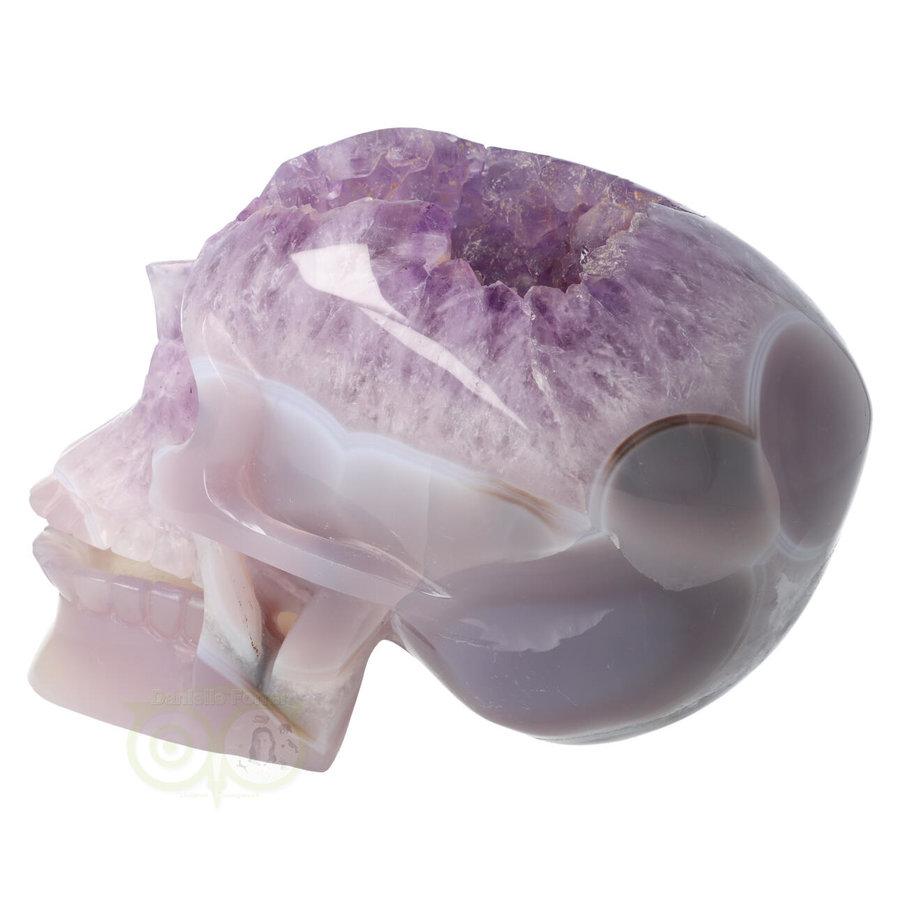 Amethist - Agaat Geode kristallen schedel 3.9 kg-4