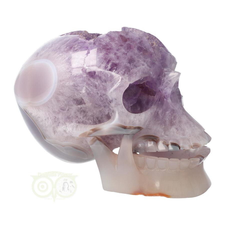 Amethist - Agaat Geode kristallen schedel 3.9 kg-8