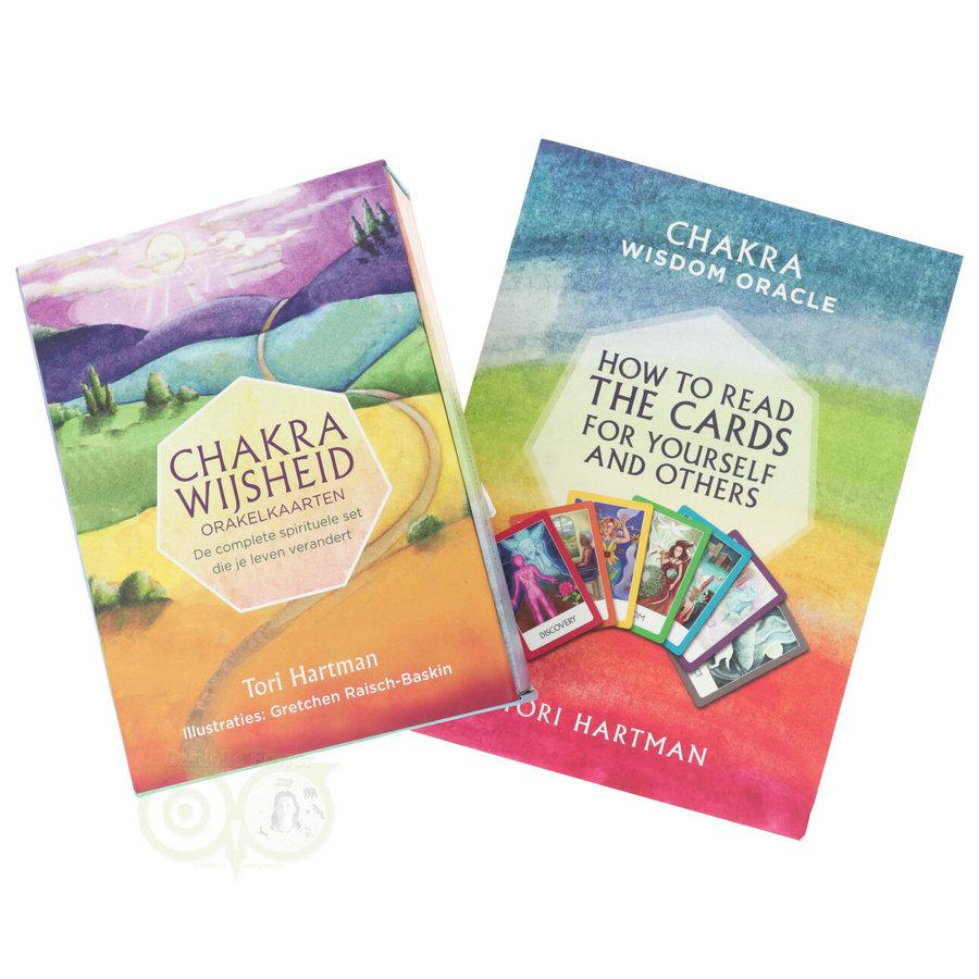 Chakra Wijsheid Orakel Set - Tori Hartman + extra engelstalig boek 'How To..-3
