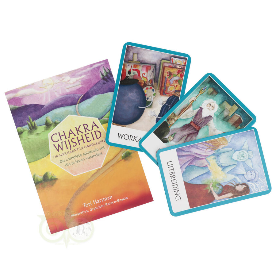 Chakra Wijsheid Orakel Set - Tori Hartman + extra engelstalig boek 'How To..-6