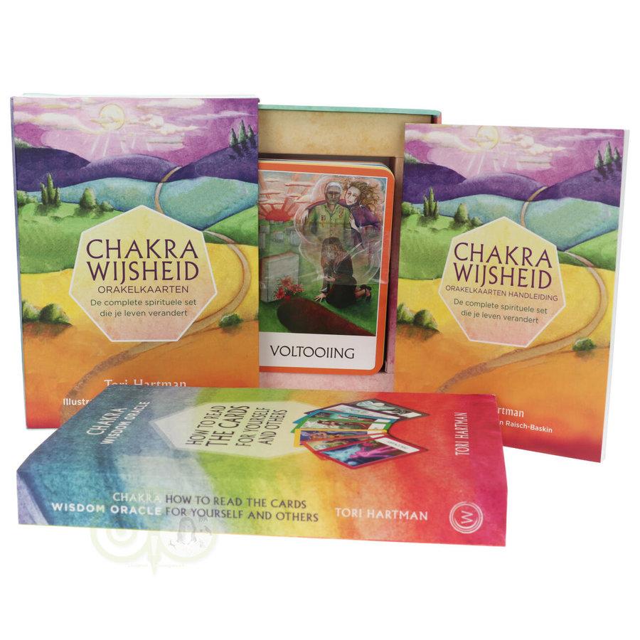 Chakra Wijsheid Orakel Set - Tori Hartman + extra engelstalig boek 'How To..-1