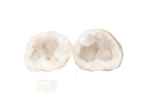 Bergkristal sterkristal geode 435 gram