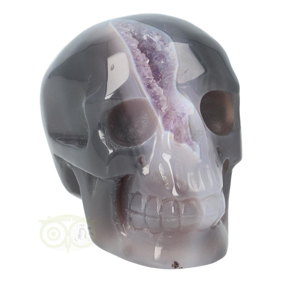 Agaat Amethist Geode kristallen schedel 523 gram-1